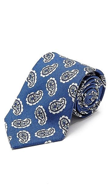 Drake's Paisley Silk Tie