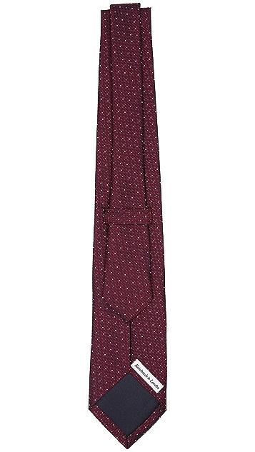 Drake's Microdot Print Woven Tie