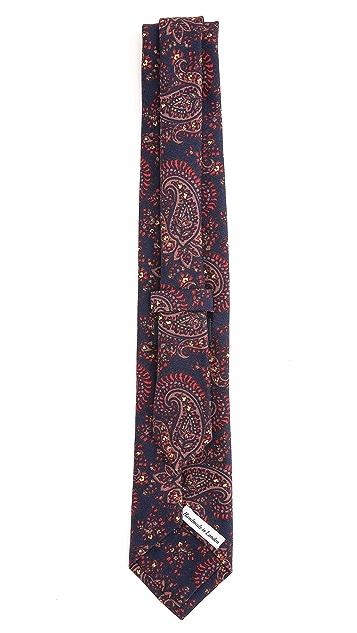 Drake's Wool Self Tip Necktie