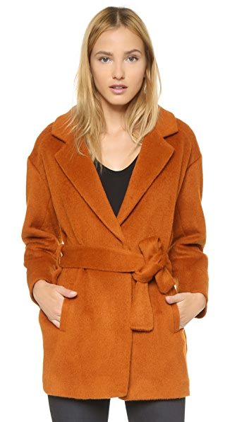 Designers Remix Panda Short Coat - Burnt Orange