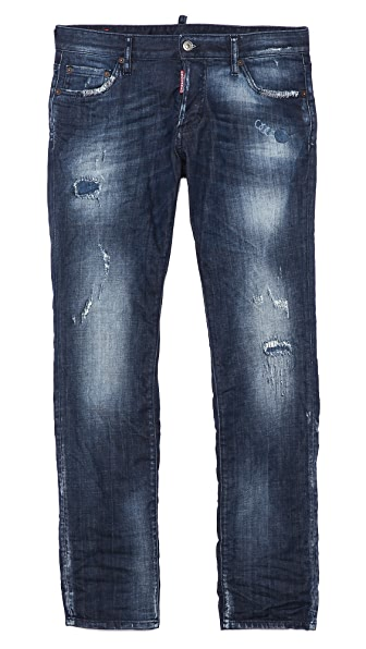 DSQUARED2 Cloudy Sky Wash Slim Jeans