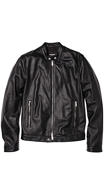 DSQUARED2 Leather Moto Jacket