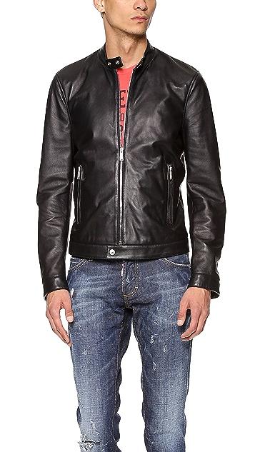 DSQUARED2 Leather Moto Jacket