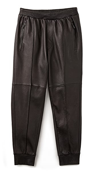 DSQUARED2 Leather Jogging Pants