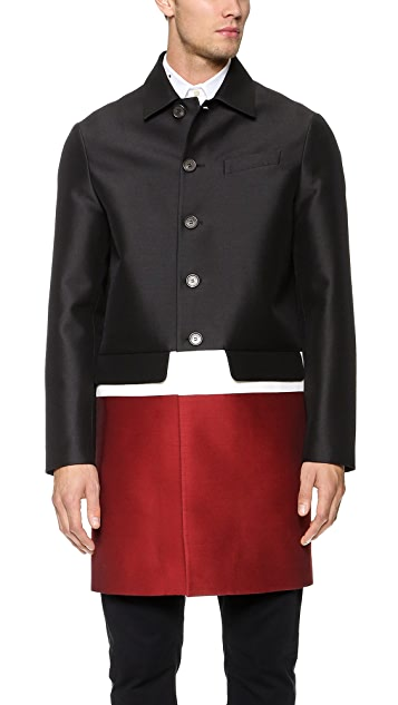 DSQUARED2 Colorblock Swing Coat