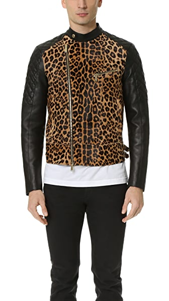 DSQUARED2 Cool Evening Haircalf Biker Jacket