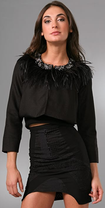DSQUARED2 Heidy Jacket with Embellished Collar
