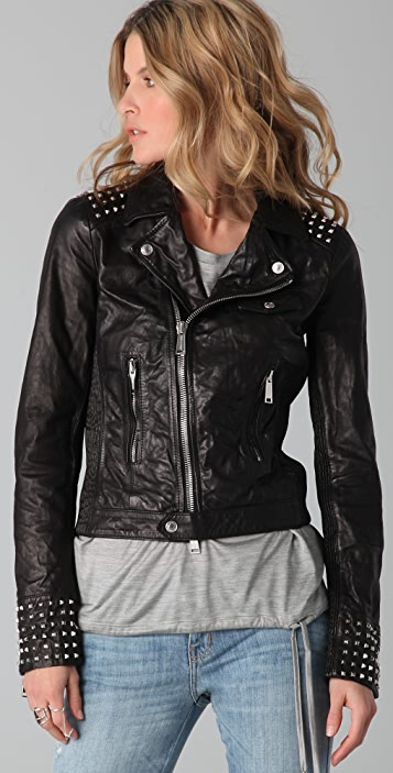 DSQUARED2 Studdy Leather Kiodo Jacket