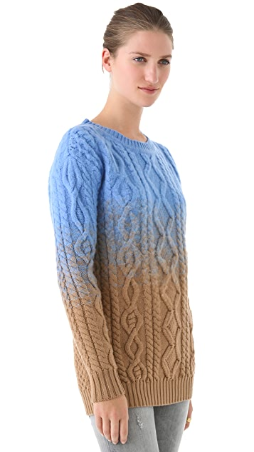 DSQUARED2 Ombre Cable Knit Sweater