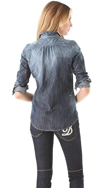 DSQUARED2 Aristocrat Argyle Denim Shirt