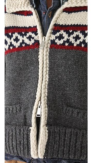DSQUARED2 Intarsia Cropped Cardigan