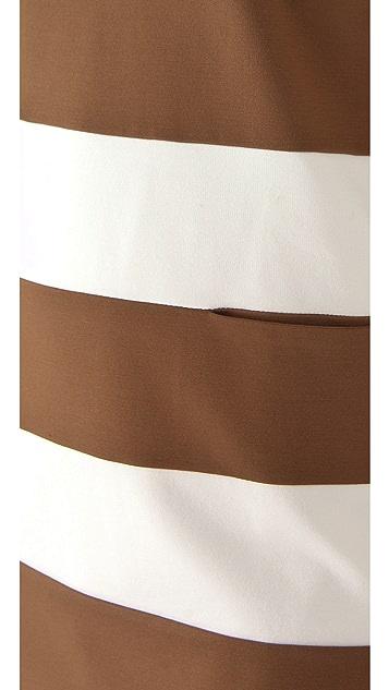 DSQUARED2 Striped Jersey Mini Dress