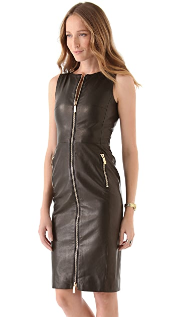 DSQUARED2 Miss Harper Leather Dress