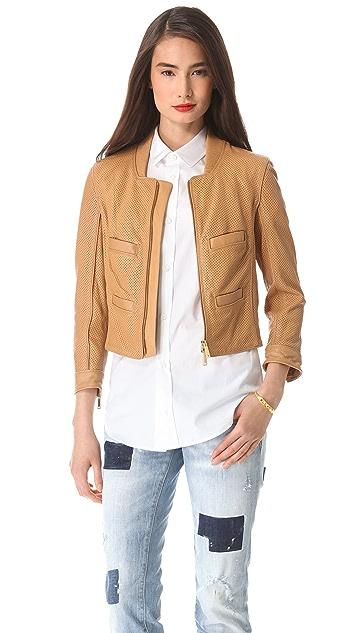 DSQUARED2 Croisette Leather Jacket