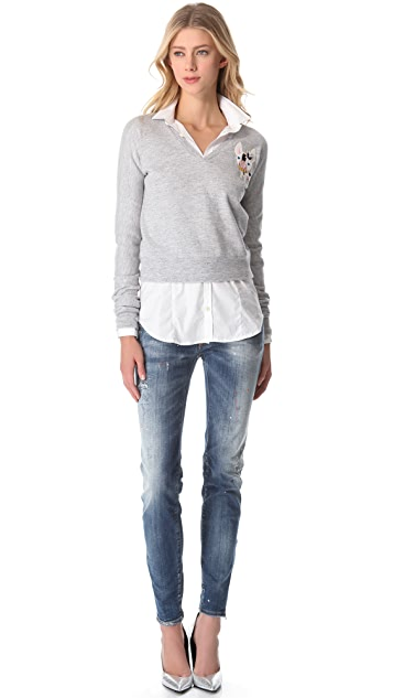 DSQUARED2 V Neck Tucana Sweatshirt
