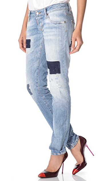 DSQUARED2 Patched Slim Jeans