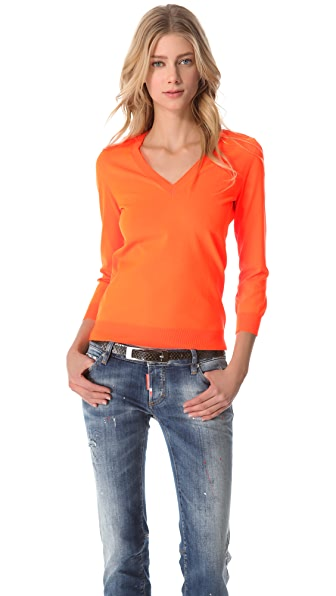 DSQUARED2 Fluorescent V Neck Sweater