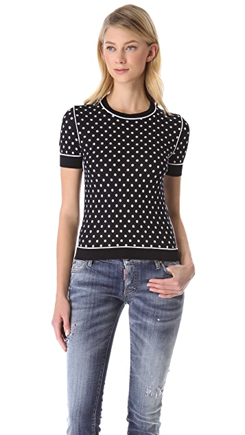DSQUARED2 Polka Dot Knit Tee