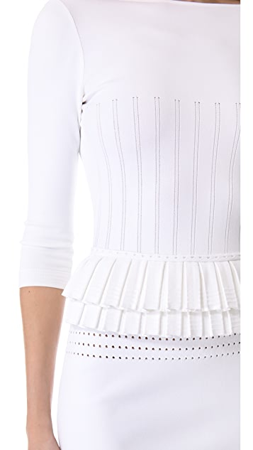 DSQUARED2 3/4 Sleeve Peplum Dress
