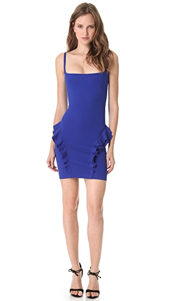 DSQUARED2 Compact Jersey Ruffle Dress
