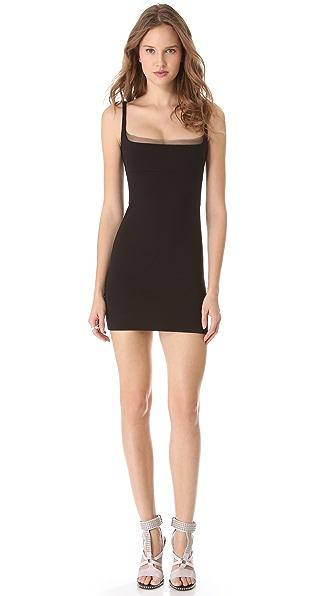 DSQUARED2 Sheer Trim Sheath Dress