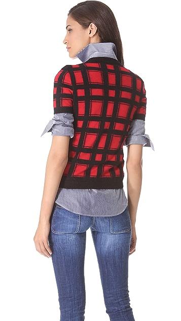 DSQUARED2 Angora Check Sweater