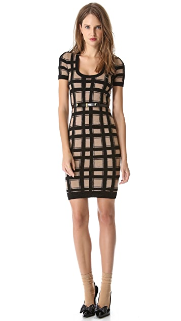 DSQUARED2 Short Sleeve Check Dress