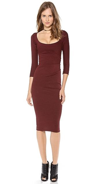 DSQUARED2 3/4 Sleeve Wool Dress