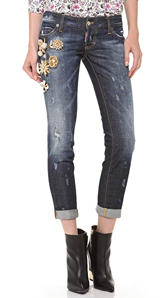 DSQUARED2 Pat Cuffed Jeans