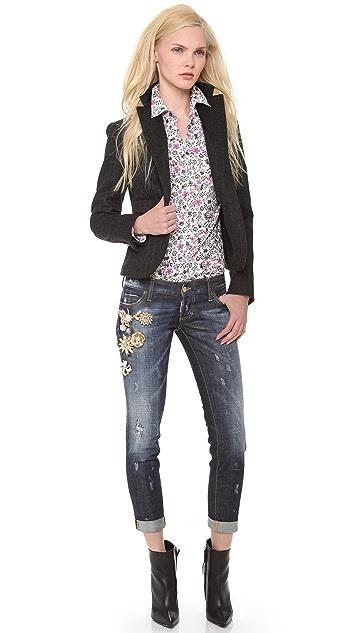 DSQUARED2 Pat Cuffed Jeans