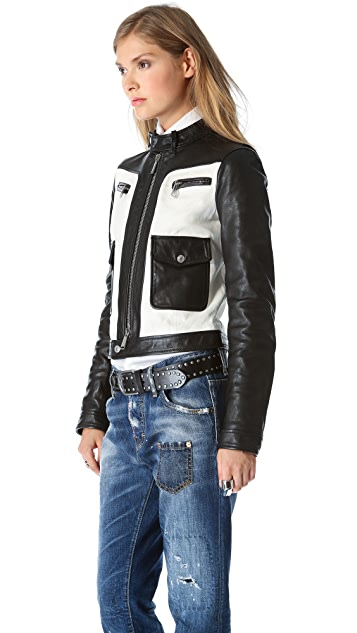 DSQUARED2 Ginger Biker Leather Jacket