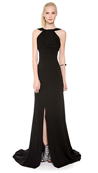 DSQUARED2 Gathered Bust Draped Gown