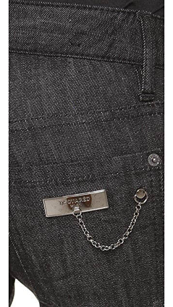 DSQUARED2 Skinny Jeans with Pocket Chain
