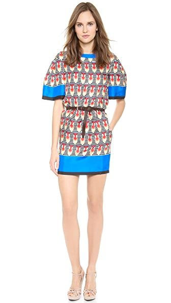 DSQUARED2 Baboon Silk Dress