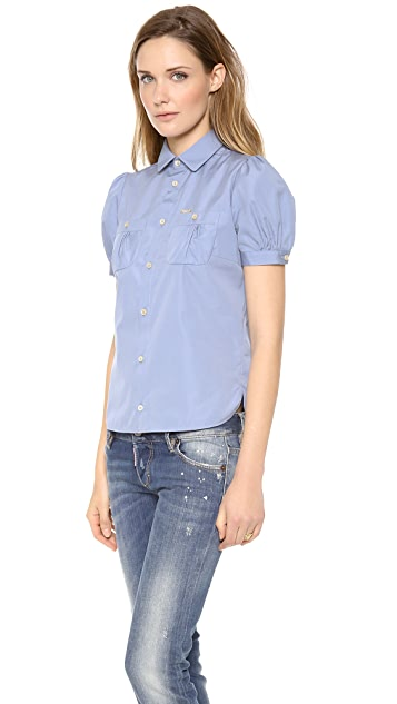 DSQUARED2 Short Sleeve Poplin Blouse