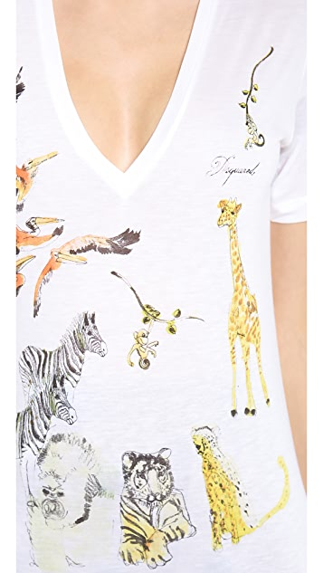DSQUARED2 Short Sleeve Printed Tee