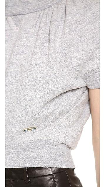 DSQUARED2 Cropped Short Sleeve Sweatshirt