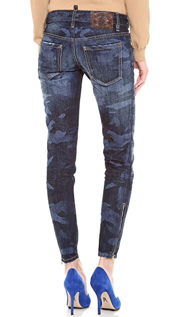 DSQUARED2 Mimetico Super Slim Jeans
