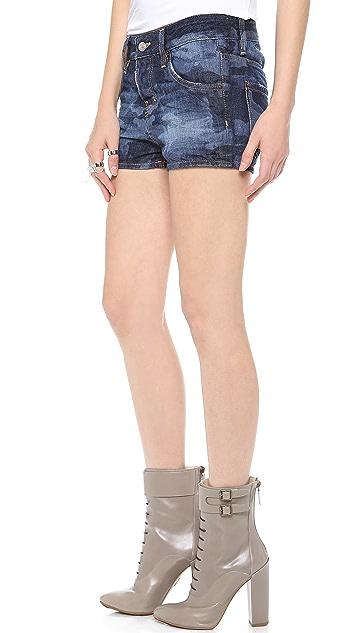 DSQUARED2 Camo Denim Shorts