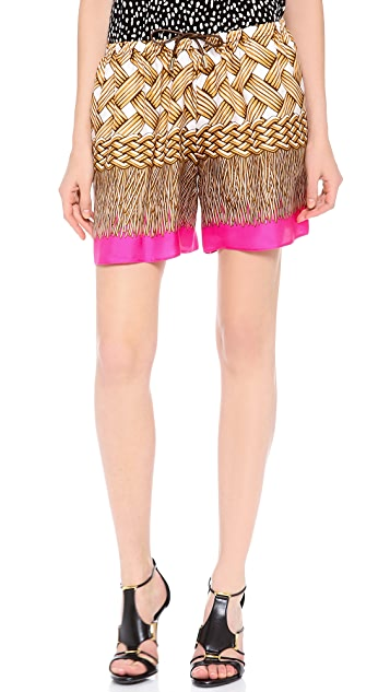 DSQUARED2 Printed Silk Shorts