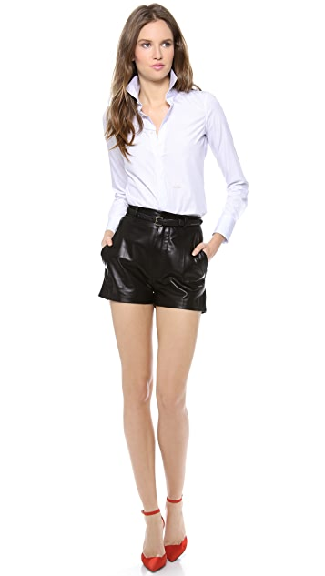 DSQUARED2 Leather Shorts