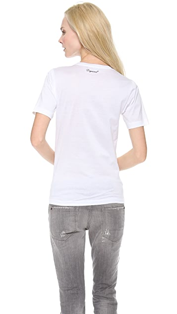 DSQUARED2 Printed Tee with Feathers