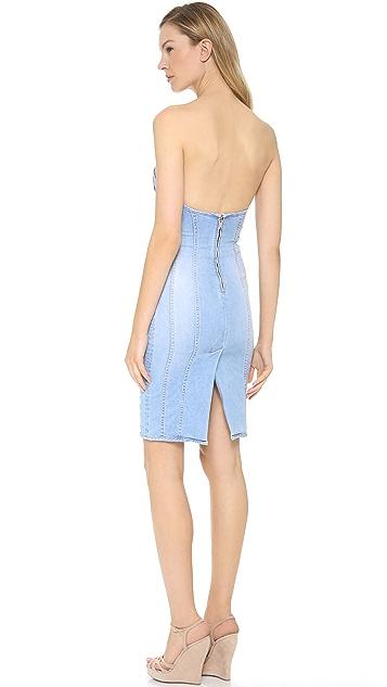 DSQUARED2 Strapless Denim Dress
