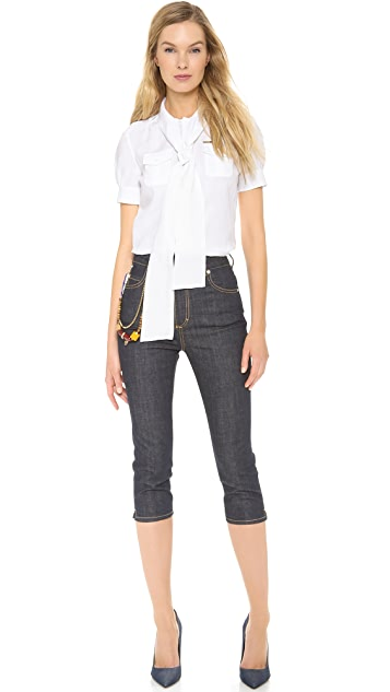 DSQUARED2 High Waist Capri Jeans