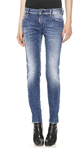 DSQUARED2 Mid Rise Super Slim Jeans