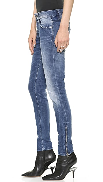 DSQUARED2 Mid Rise Super Slim Jeans