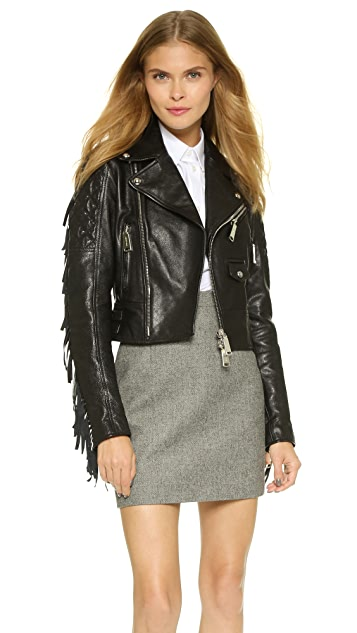 DSQUARED2 Cropped Leather Jacket