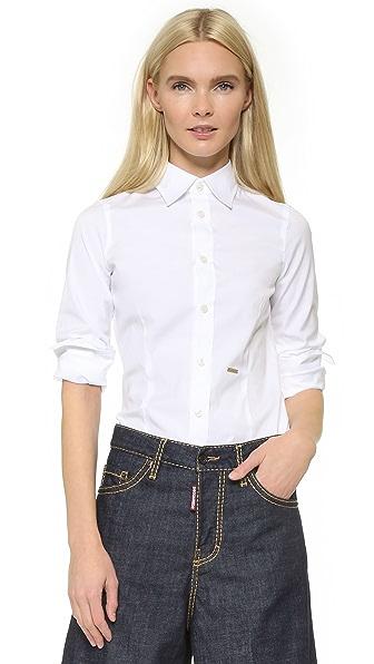 DSQUARED2 Классическая рубашка на одной пуговице
