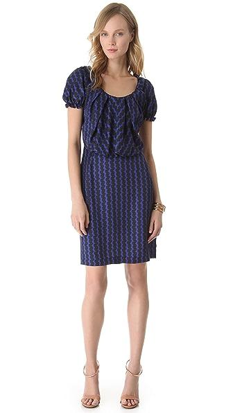 David Szeto Coquette Short Sleeve Dress
