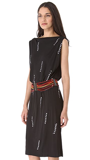 David Szeto Rossodo Sleeveless Draped Dress